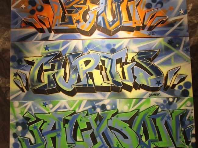 Kids Names on Canvas / Graffiti Font