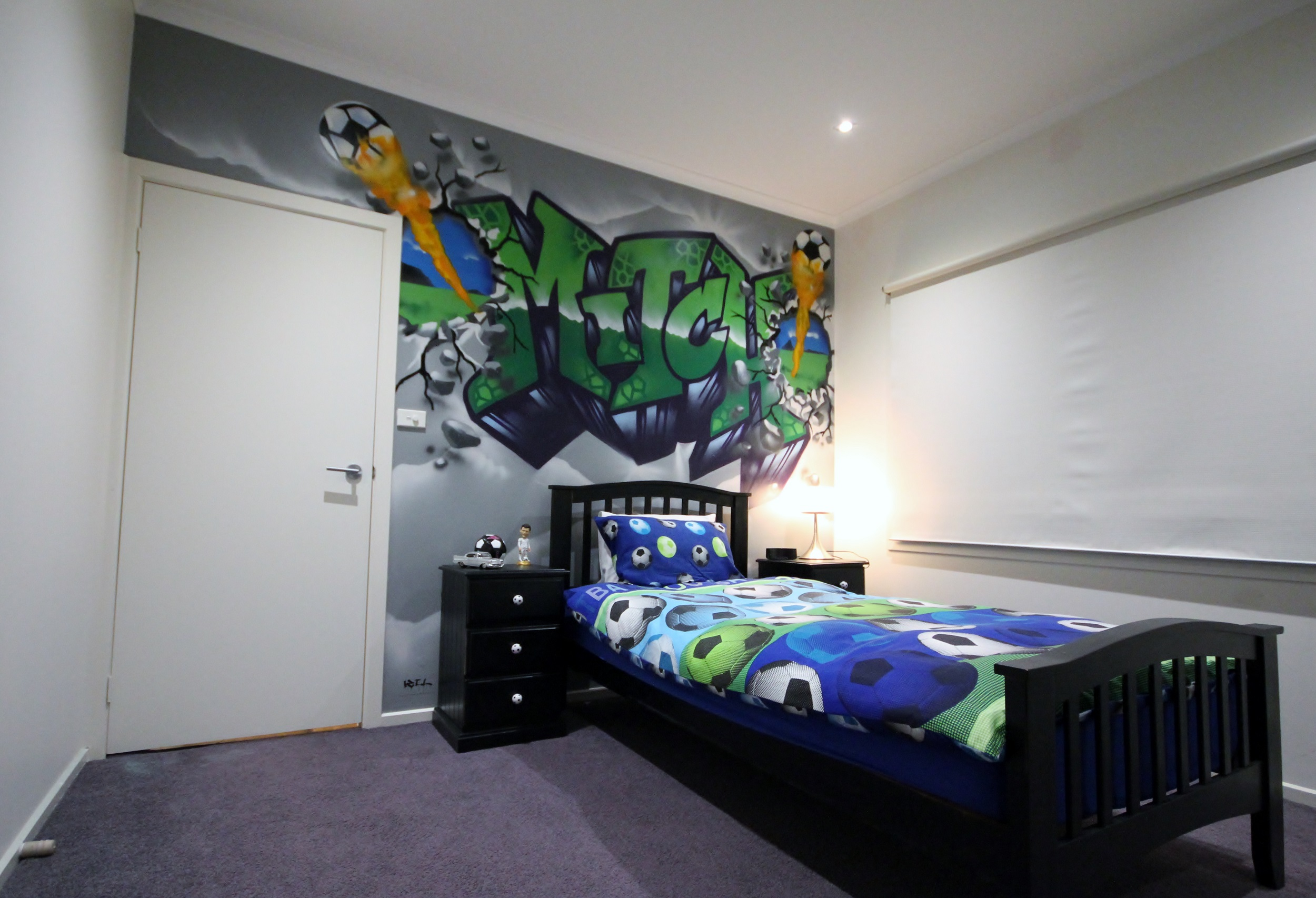 Mitch Kids Soccer Bedroom in graffiti