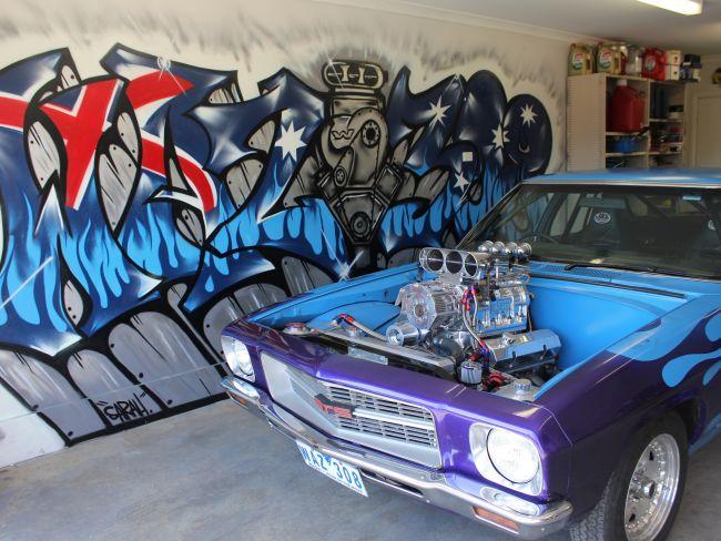 WAZ308 – Residential Garage Graffiti